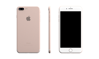IPhone 7 Plus Skin Rose Gold Base Model