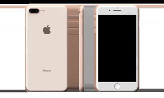 IPhone 8 Plus Full Back Skin Gold Base Model