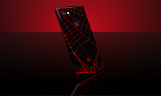 Black Widow Pixel 2 XL Full Back skin