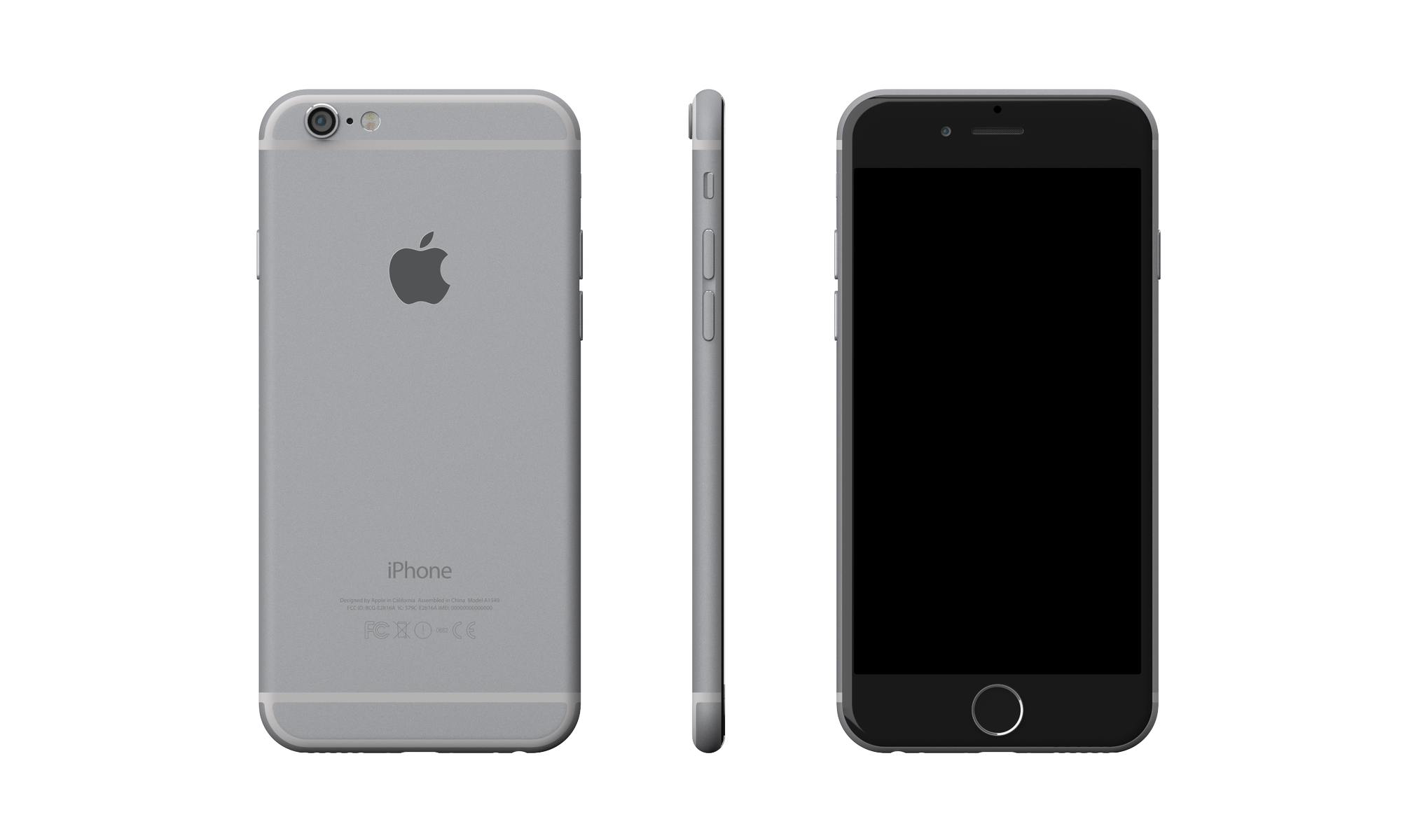 Iphone 6 skin space gray